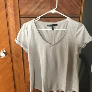 WHBM Silver shimmery T shirt